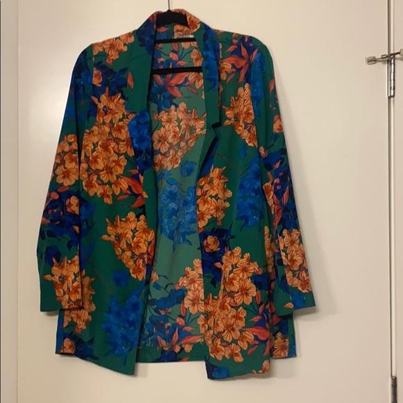 Stradivarius floral blazer